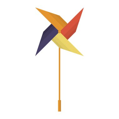Colorful  colored vector windmill illustration
