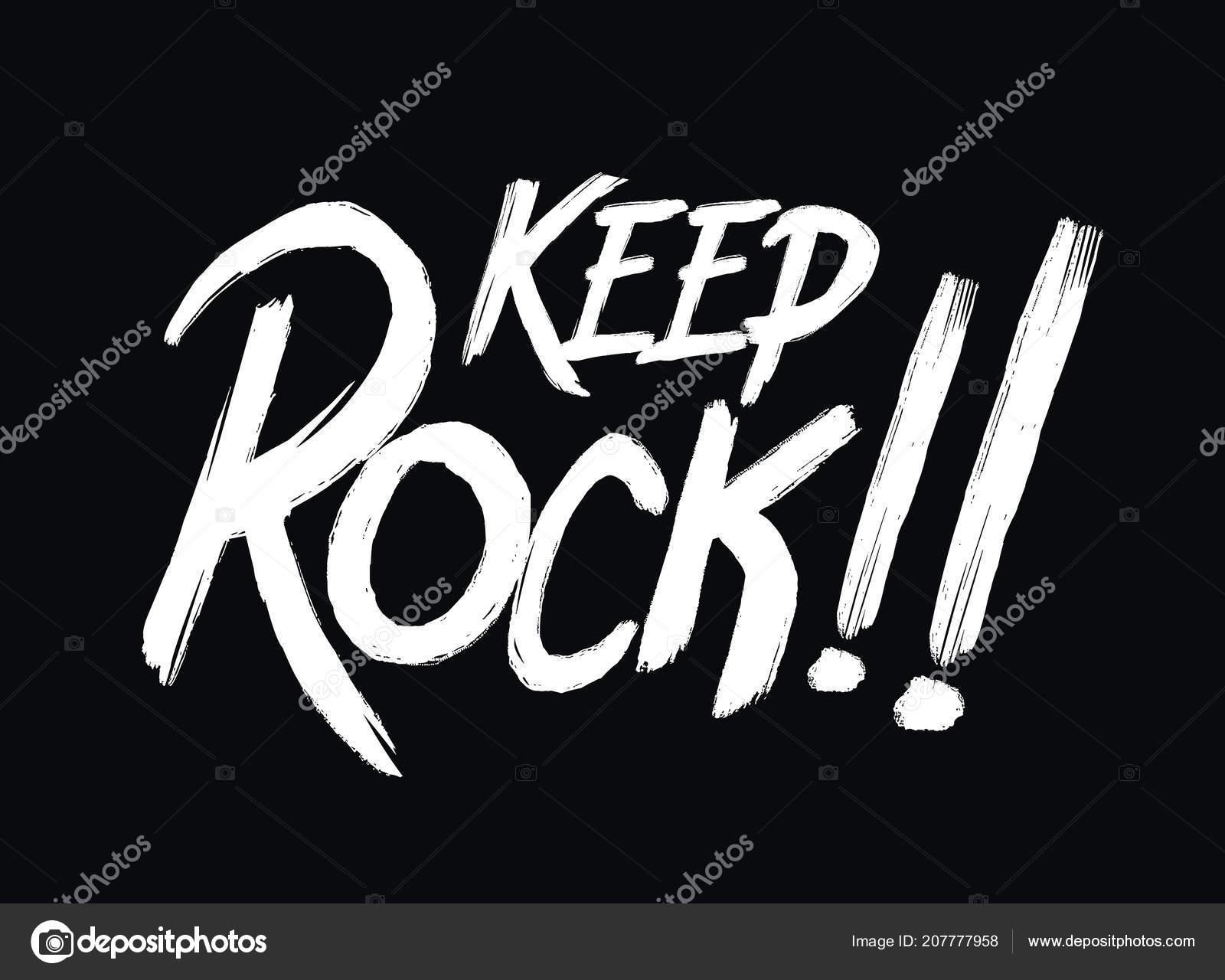 Tipografia Manter Rock Roll Música Tipo Camisa Desenho