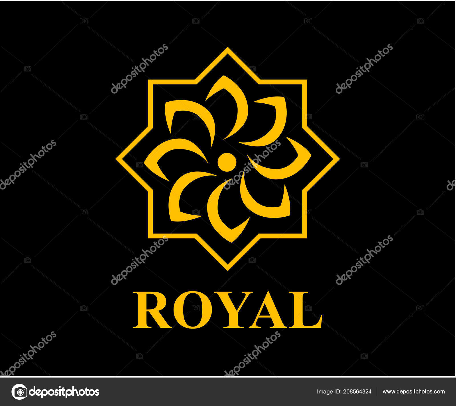 Gold color royal lotus flower health luxury industry logo idea gold color royal lotus flower health luxury industry logo idea stock vector izmirmasajfo