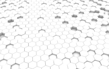Duo tone hexagon 3D background texture. 3d rendering illustration. Futuristic abstract background.
