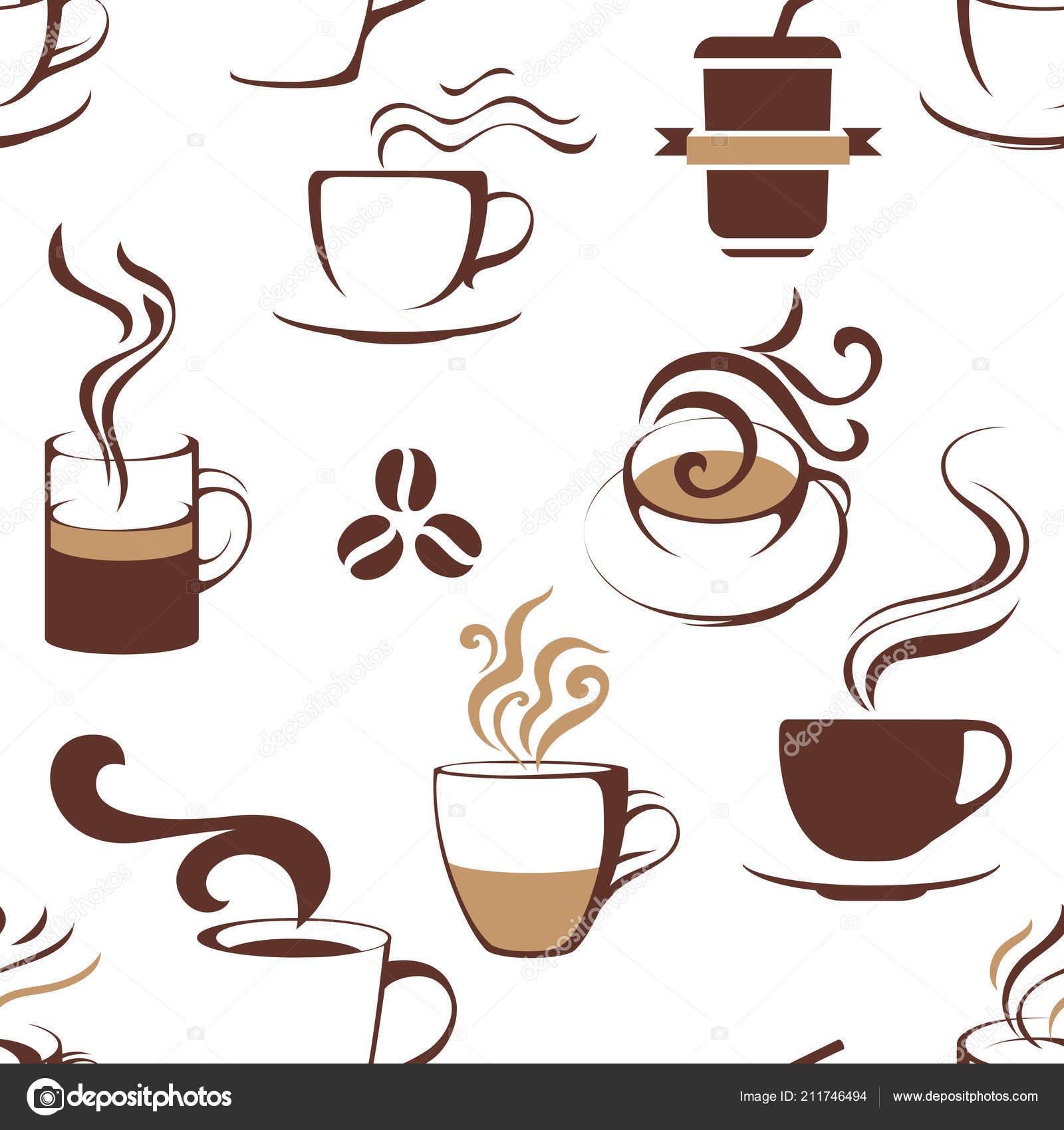 patrones sin fisuras con tazas de café — Vector de stock © mart_m ...