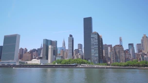 4 k paning záběr panoramatu Midtown v New York City