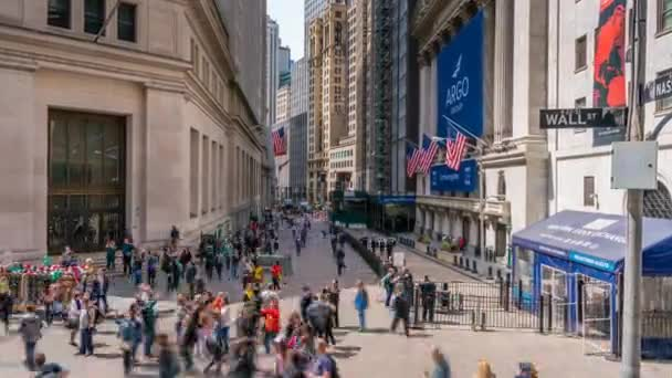 New York, USA - May 7, 2018: 4k timelapse video of New York Stock Exchange