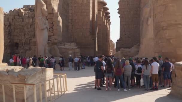 Luxor Egypt January 2020 Tourists Karnak Temple Egyptian Art Karnak Stock Video C Filin72 411810840