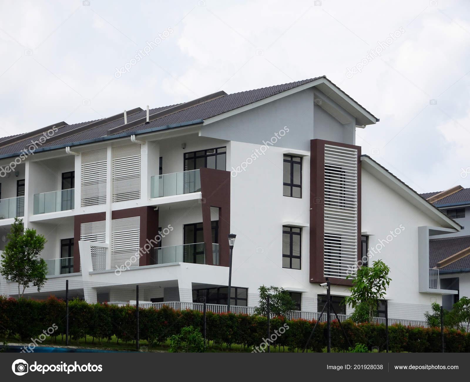 Kuala Lumpur Malasia Febrero 2018 Doble Pisos Lujo Terraza