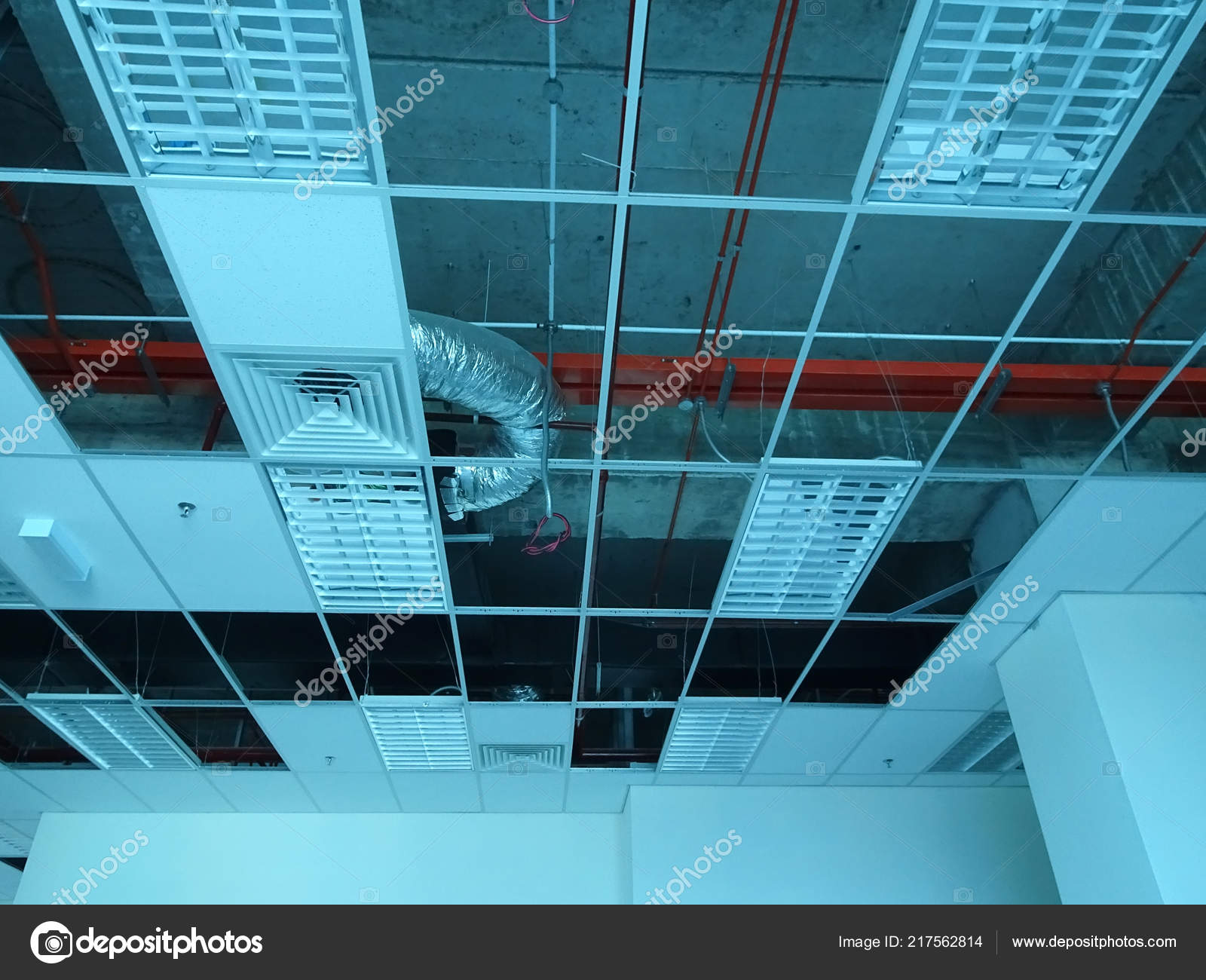 Kuala Lumpur Malaysia September 2018 Suspended Ceiling Frame