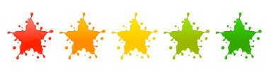 Splash star rating system.Vector illustration of feedback icons with splash concept. icon