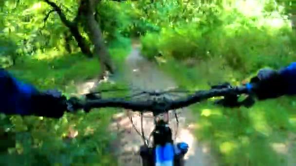 Amatér na kole v jarním parku