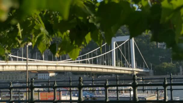 Budapesten, a főváros Duna-hídról látképe.