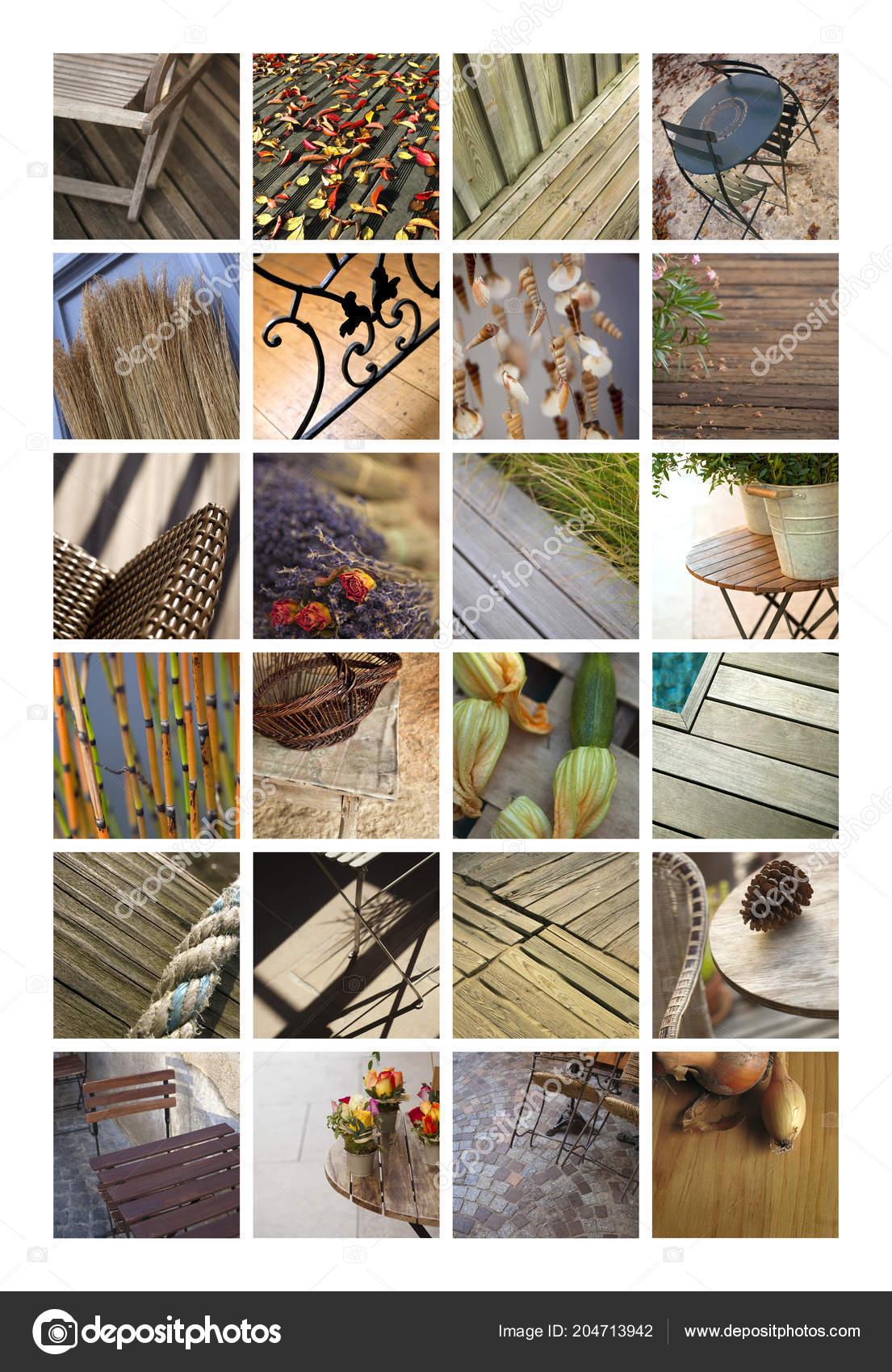 terrasse und garten mobel auf eine collage foto von jacquespalut