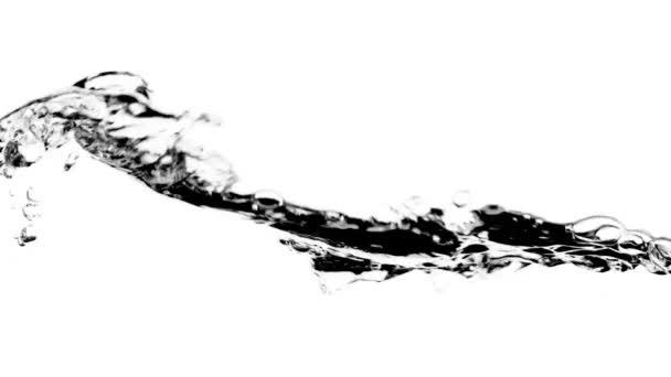 Tiszta víz hullámok fehér háttér