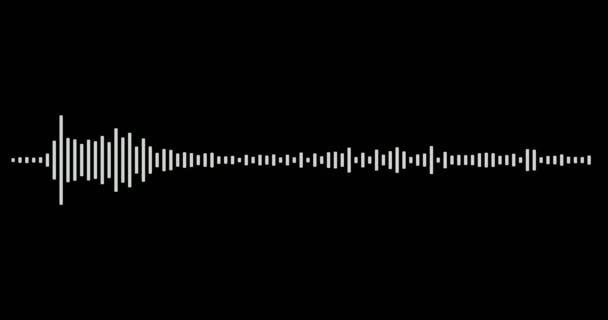 4k fekete-fehér videó felvétel audio vizualizáló fekete háttérrel. Fekete-fehér zenei kiegyenlítő sötét háttérrel. UHD, HD, 1080p 4K formátumú.