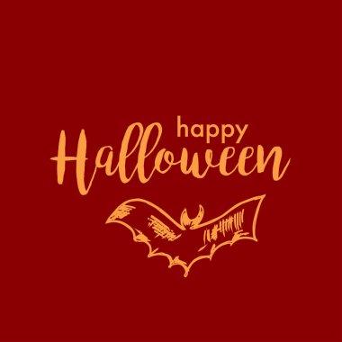 Halloween Vector Design with Happy Halloween Lettering.