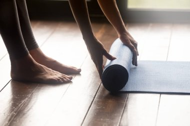 Meditation session, fitness healthy mindful lifestyle concepts
