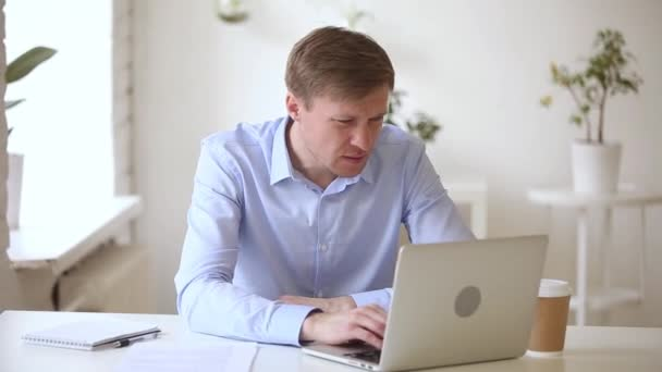 Angry mad businessman stressed crazy about computer online problem