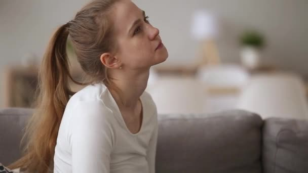 Restless girl upset about quarrel with guy feels desperate outraged