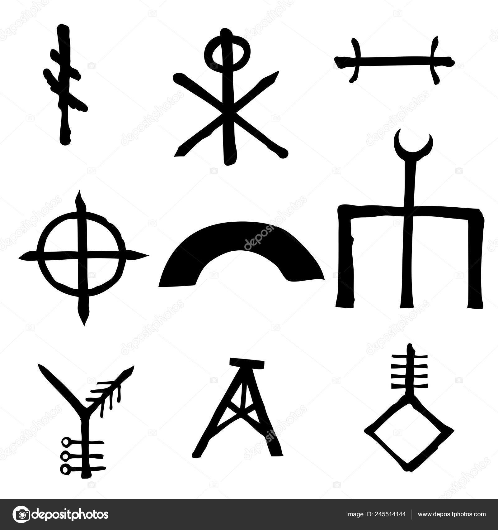 Wiccan Symbols Imaginary Cross Symbols Inspired Antichrist