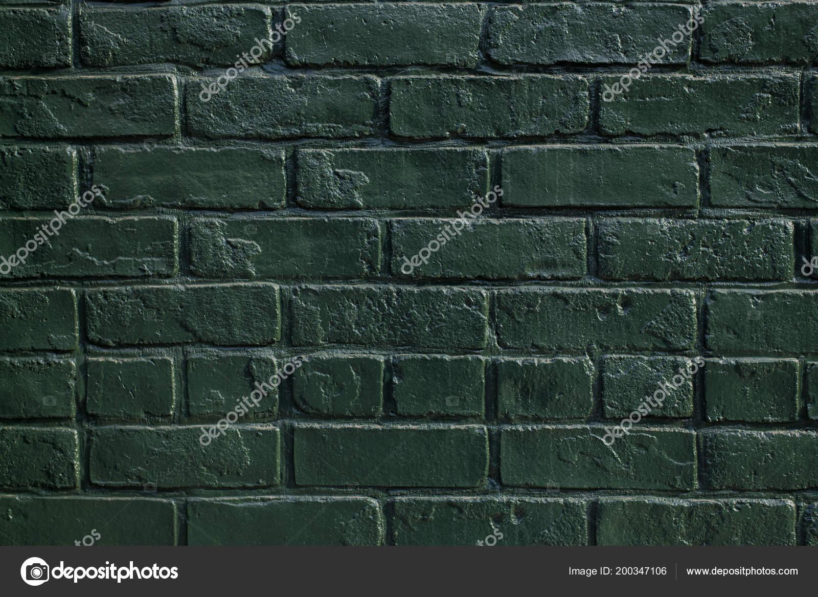 Mur Briques Peinture Vintage Couleur Verte Pour Décoration