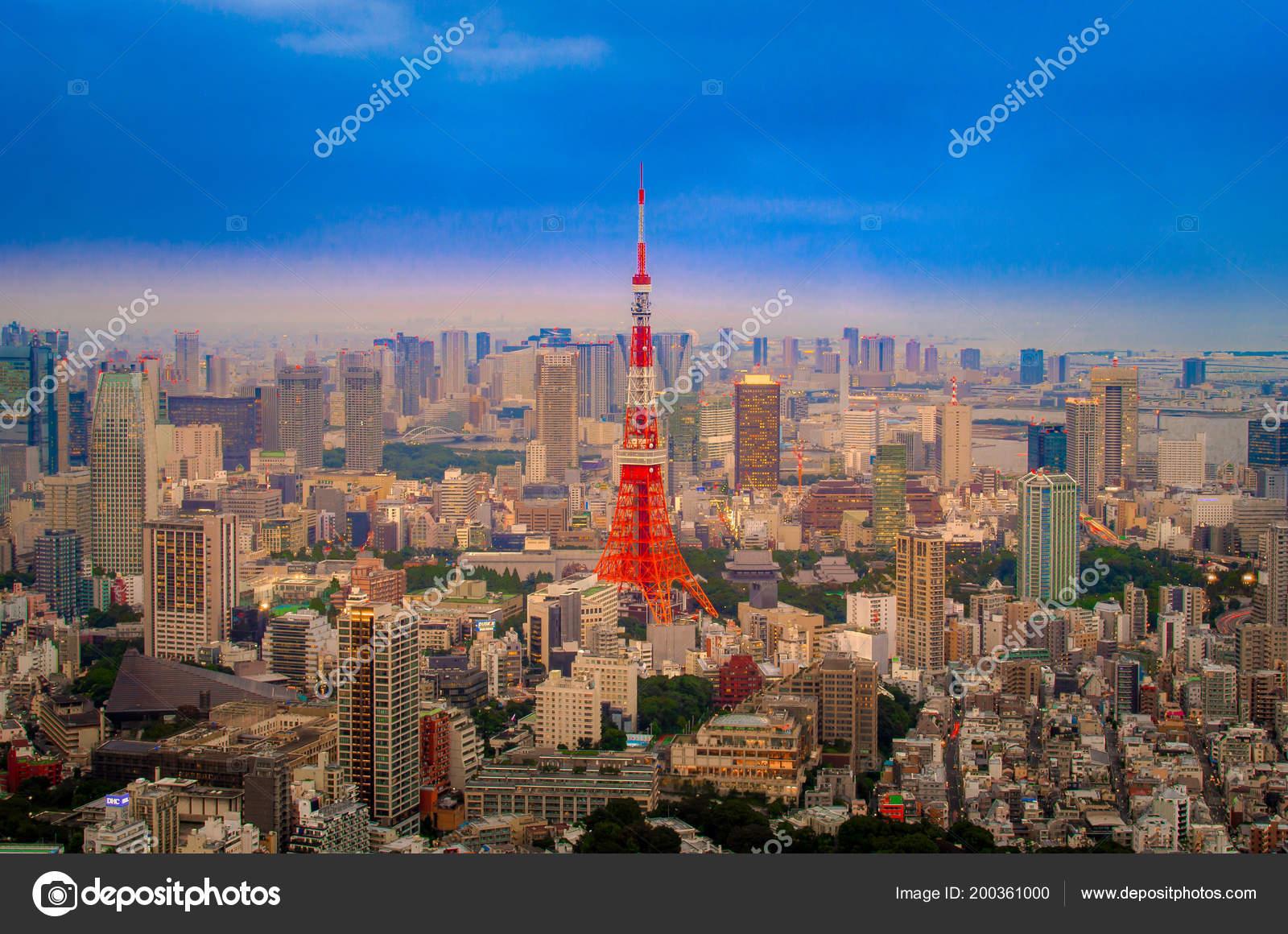 Tono Color Vibrante Color Anime Tokio Torre Comunicación Enviar ...