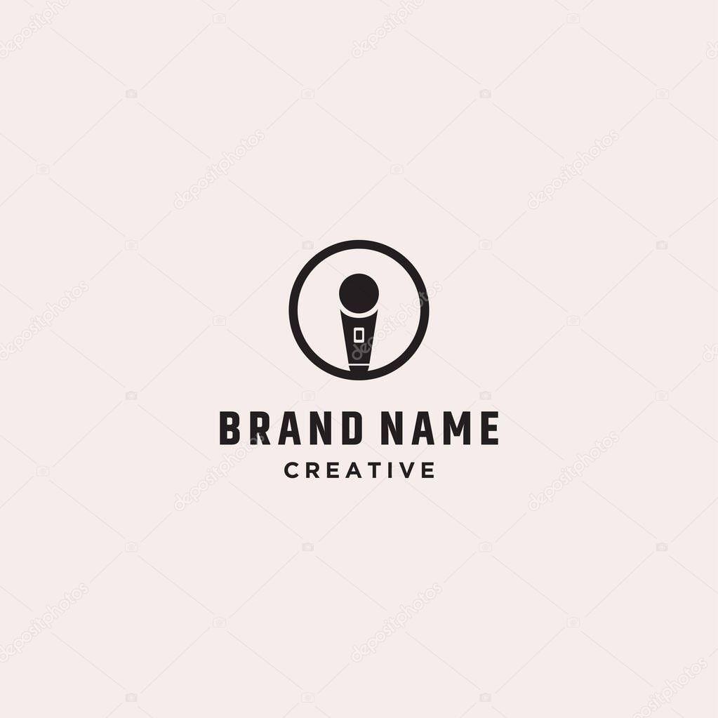 Letter i mic logo vector  Stock Illustration icon