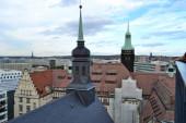 Fotografie Blick von oben auf Chemnitz vom Rathaus
