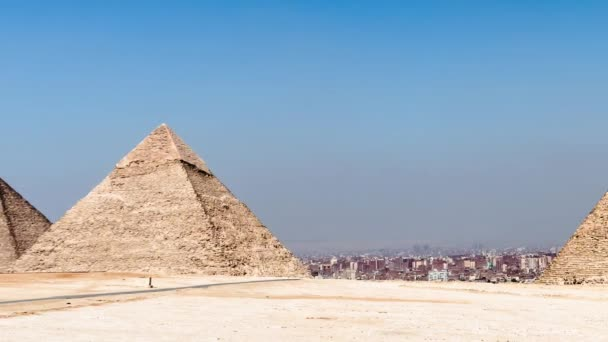 Slide and Zoom Out of the Great Pyramid - Giza Egypt