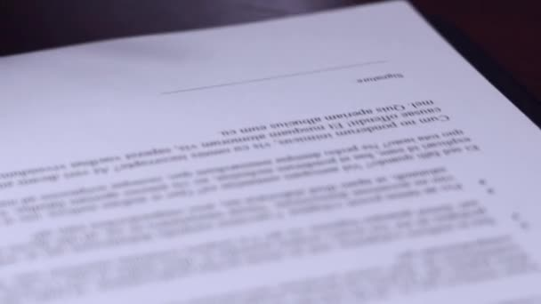 Close Businessman Hands Signing Business Contract Agreement Office