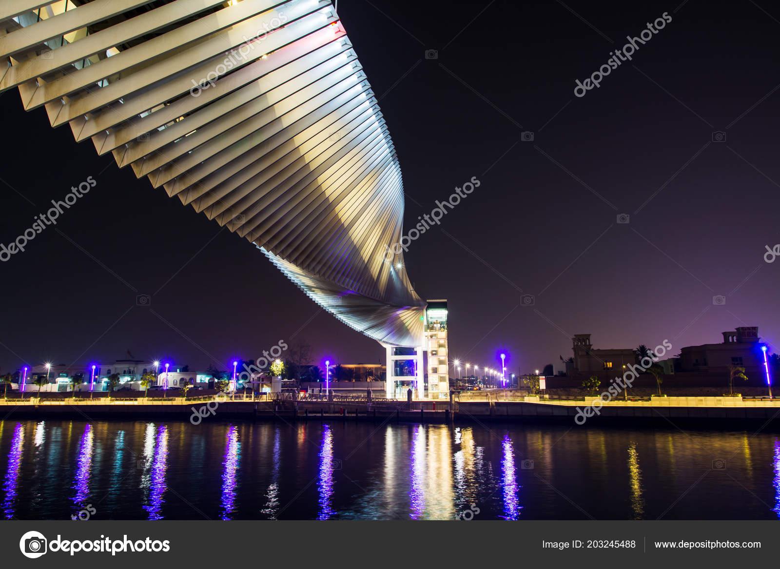 Dubai United Arab Emirates May 2018 Dubai Water Canal Modern ...
