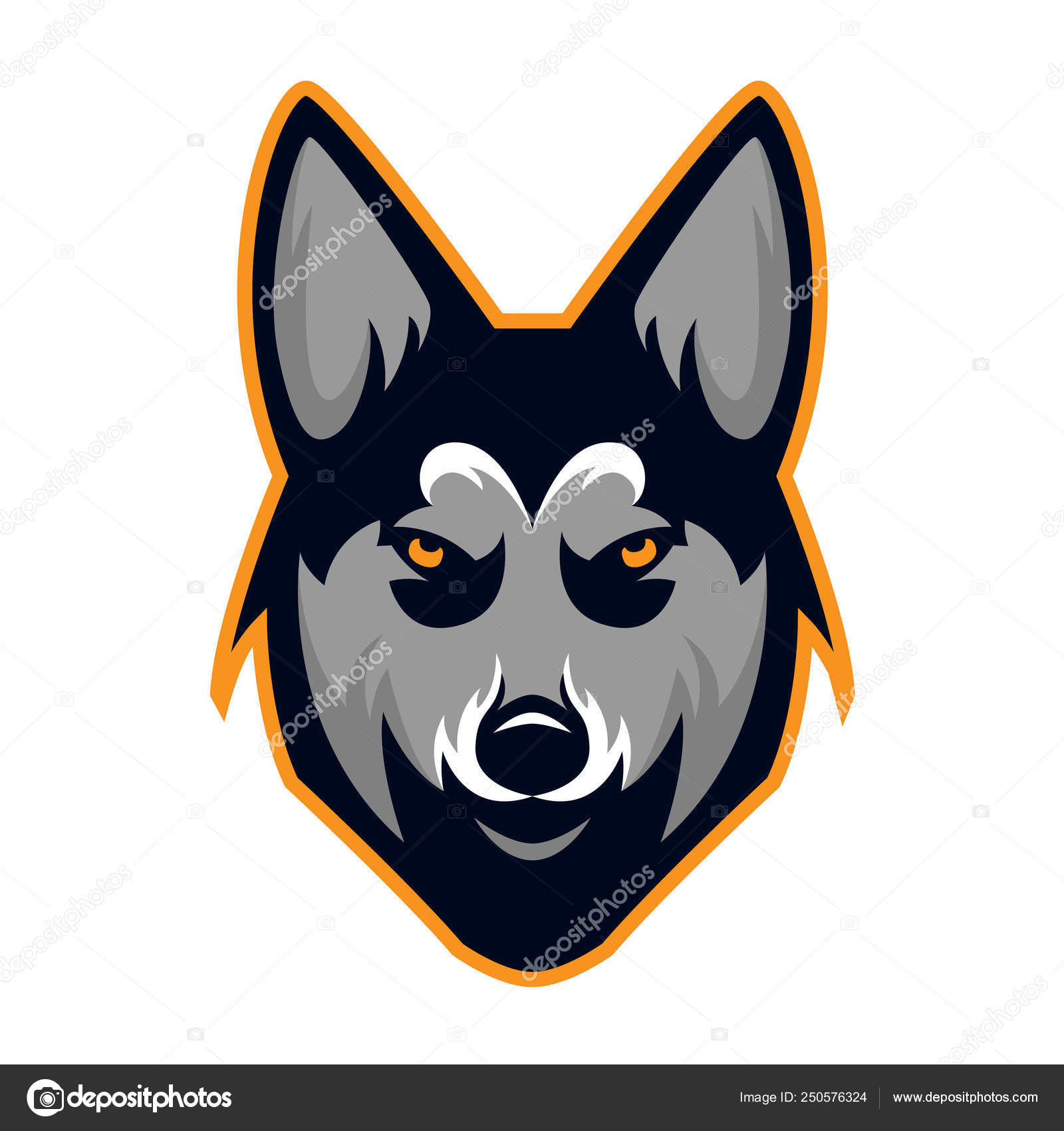 94ba24940 Husky Dog Head Team Mascot Logo. Available in vector format for unlimited  file size and to easily change the color.