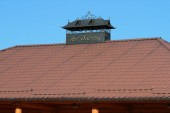 Kovaného komínu na střeše