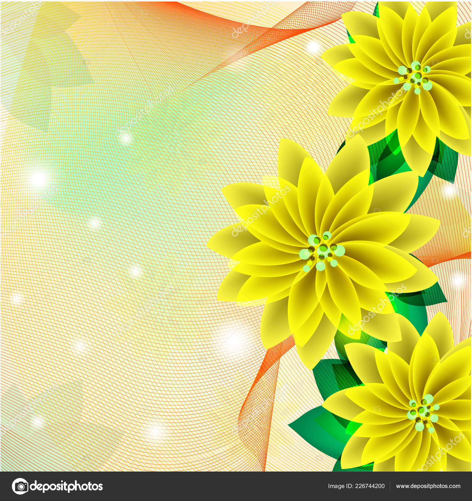 Wedding Card Abstract Yellow Floral Background Stock Vector C Ol