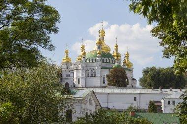 View of Kiev Pechersk Lavra orthodox monastery, Ukraine