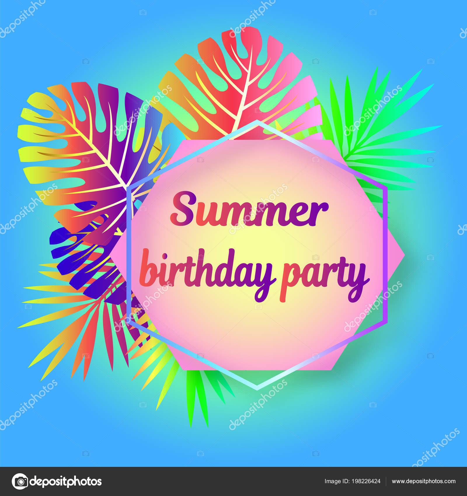 Invitaciones De Neon Party Para Imprimir Maqueta Lista Brillante