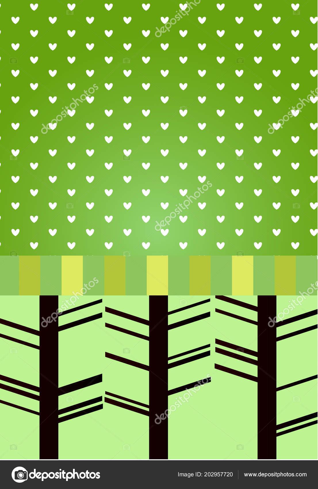 Patrón Degradado Verde Lindo Para Métrica Los Niños Tarjeta