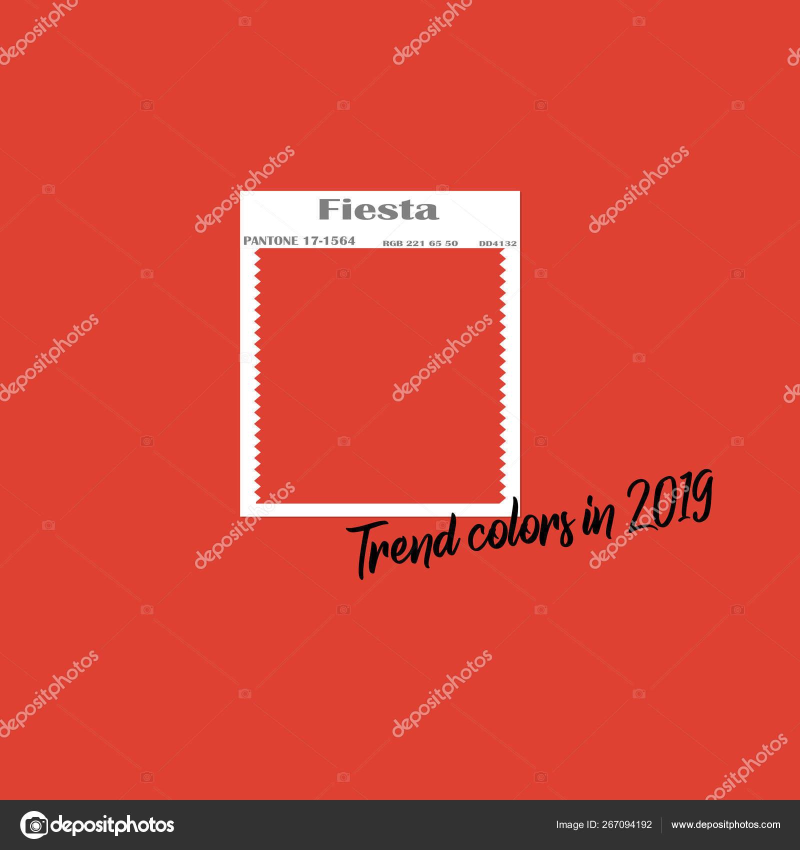 Spring Summer 2019 Color Trends Color Swatch Designer Flat Vector