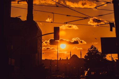City at sunset. City of Istanbul