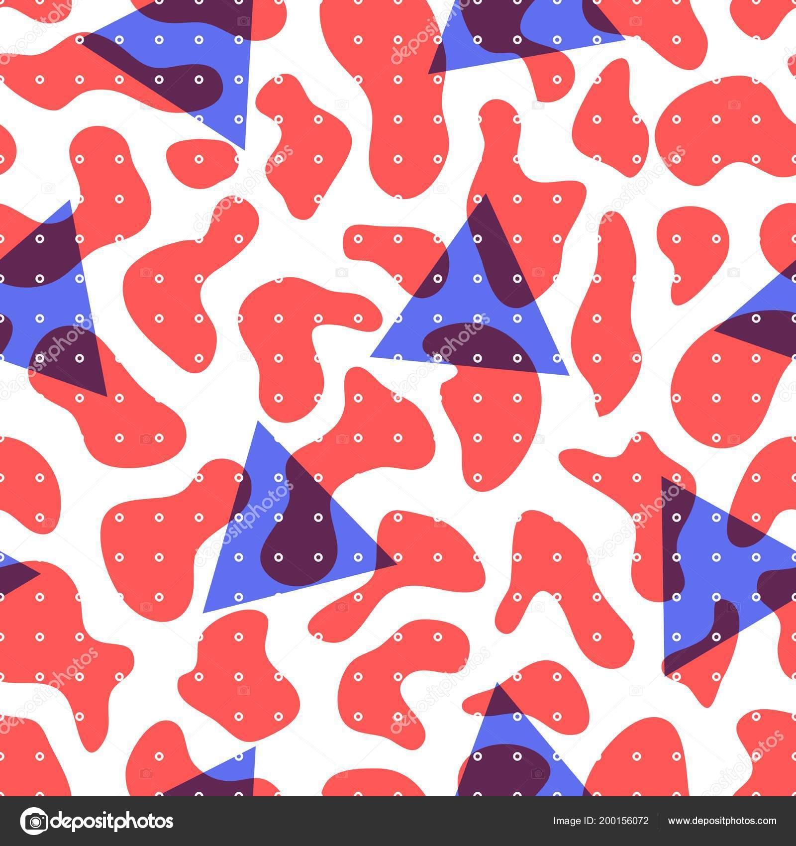 Retro Seamless Pattern In Minimalist Style Geometric Vector Background Design