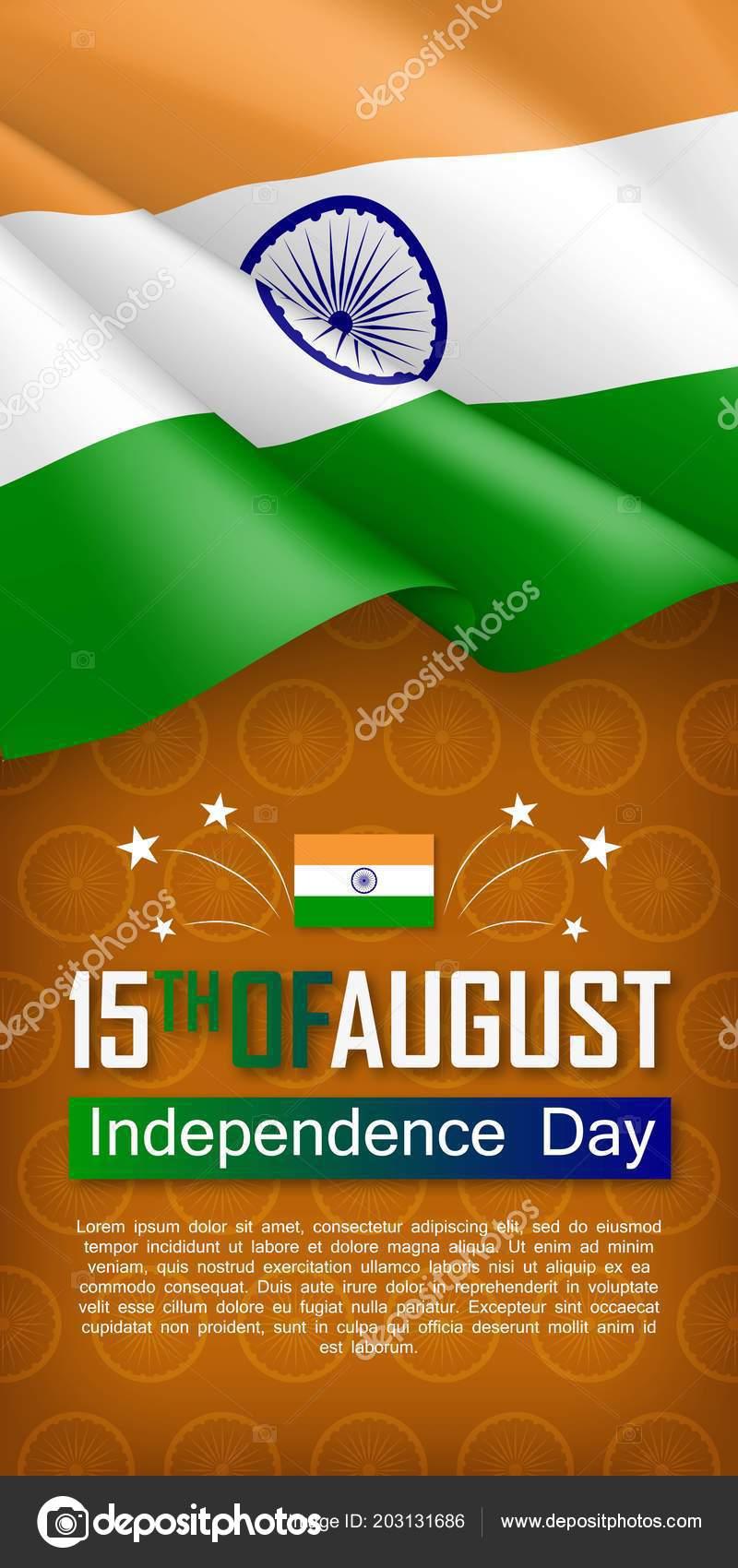 indian independence day vertical flyer stock vector nastya mal