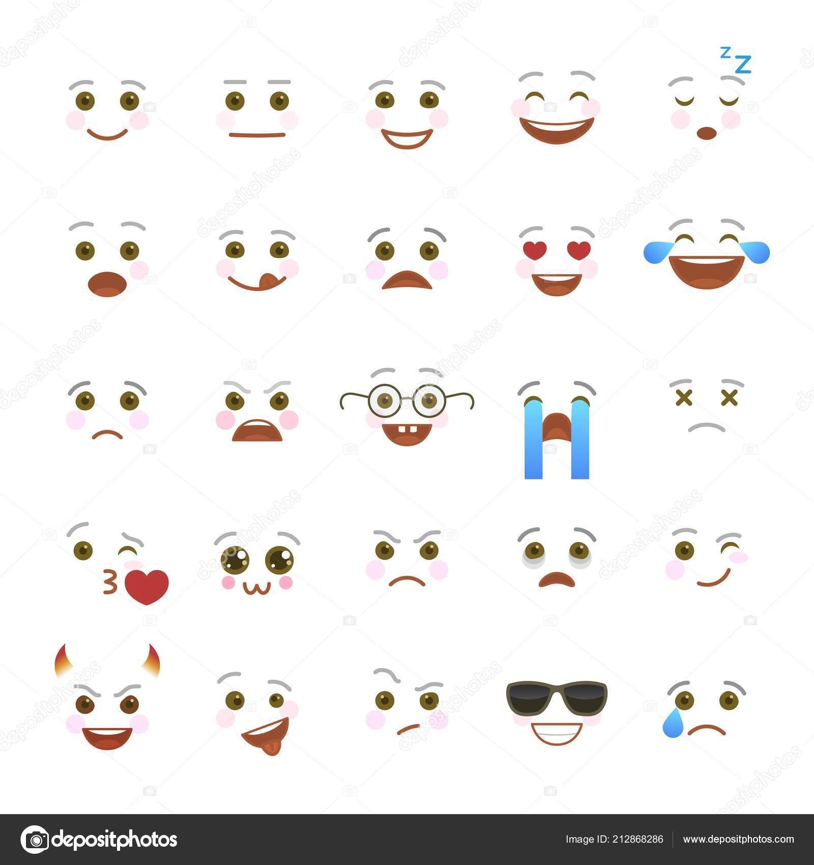 Comic Emoji Symbols For Internet Chatting