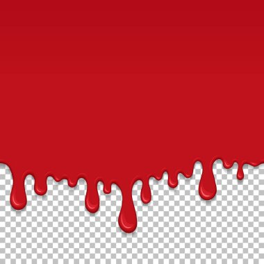 Red dripping slime seamless element