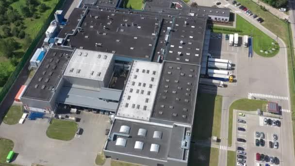 Aerial Drone Video Distribution Center Logistic Transport Concept
