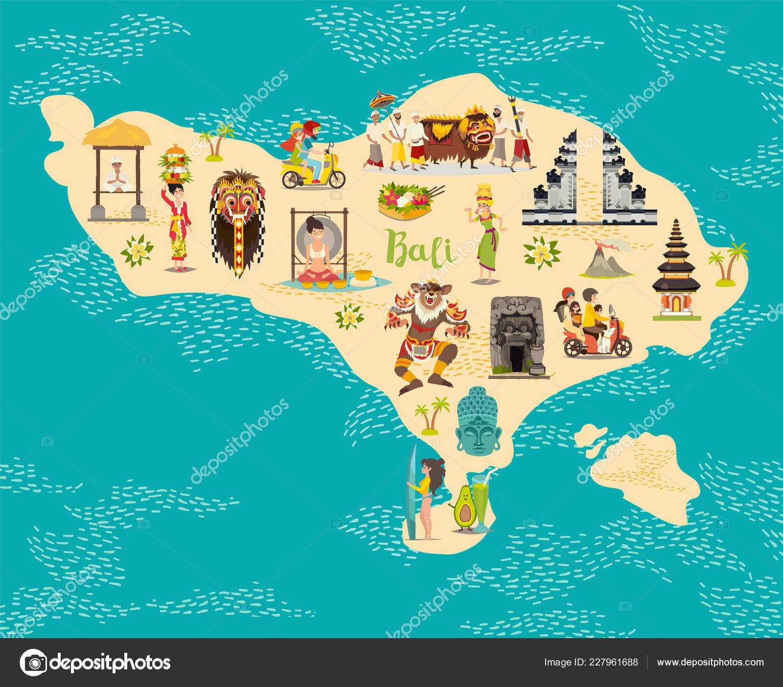 Pictures: bali cartoon | Cartoon Map Bali Kid Children Bali ...