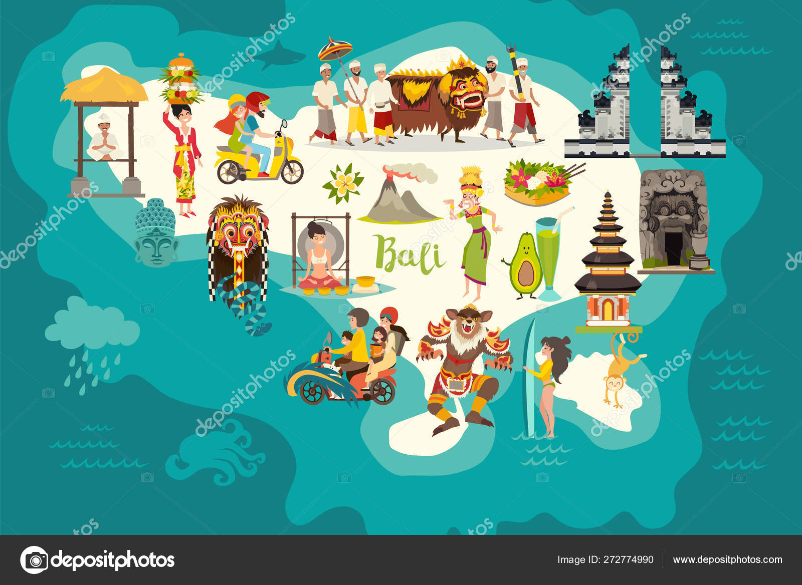 Áˆ Indonesian Demon Stock Vectors Royalty Free Ubud Illustrations Download On Depositphotos