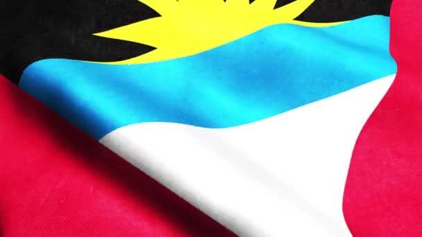 3D animated render of Antigua and Barbuda waving flag seamless loop
