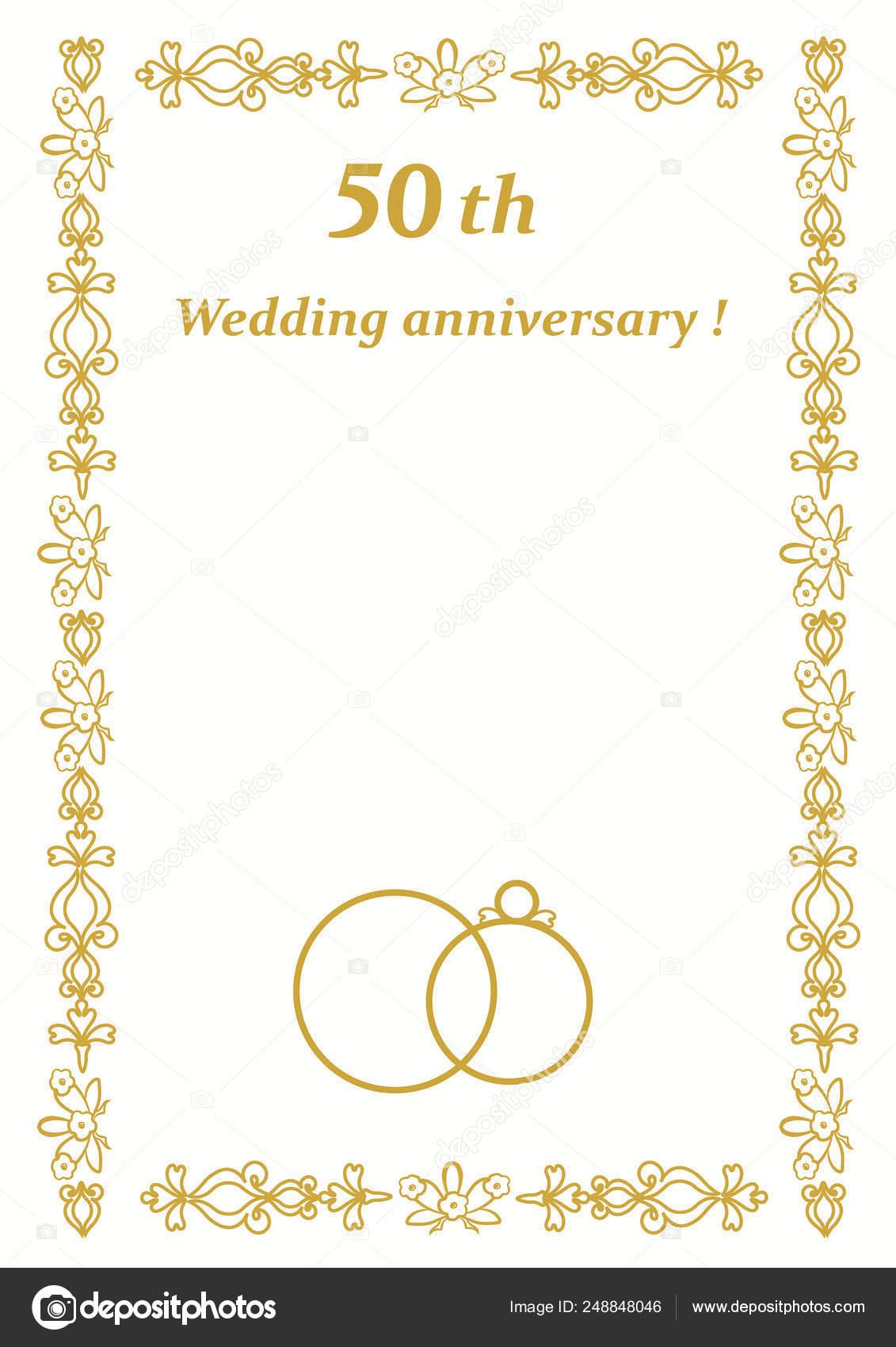 Golden Jubilee Wedding Anniversary Invitation Cards 50th