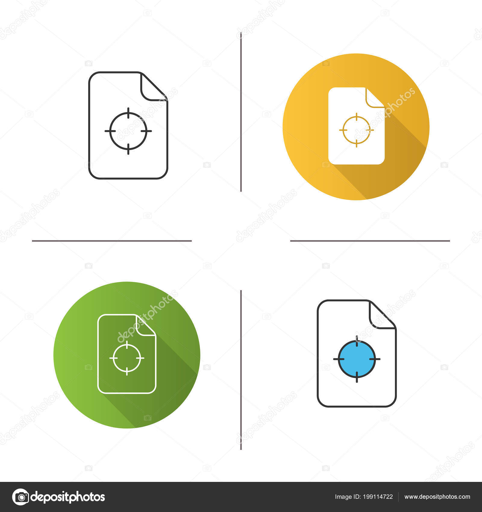 Printing Registration Mark Icon Cmyk Quality Control Flat Design