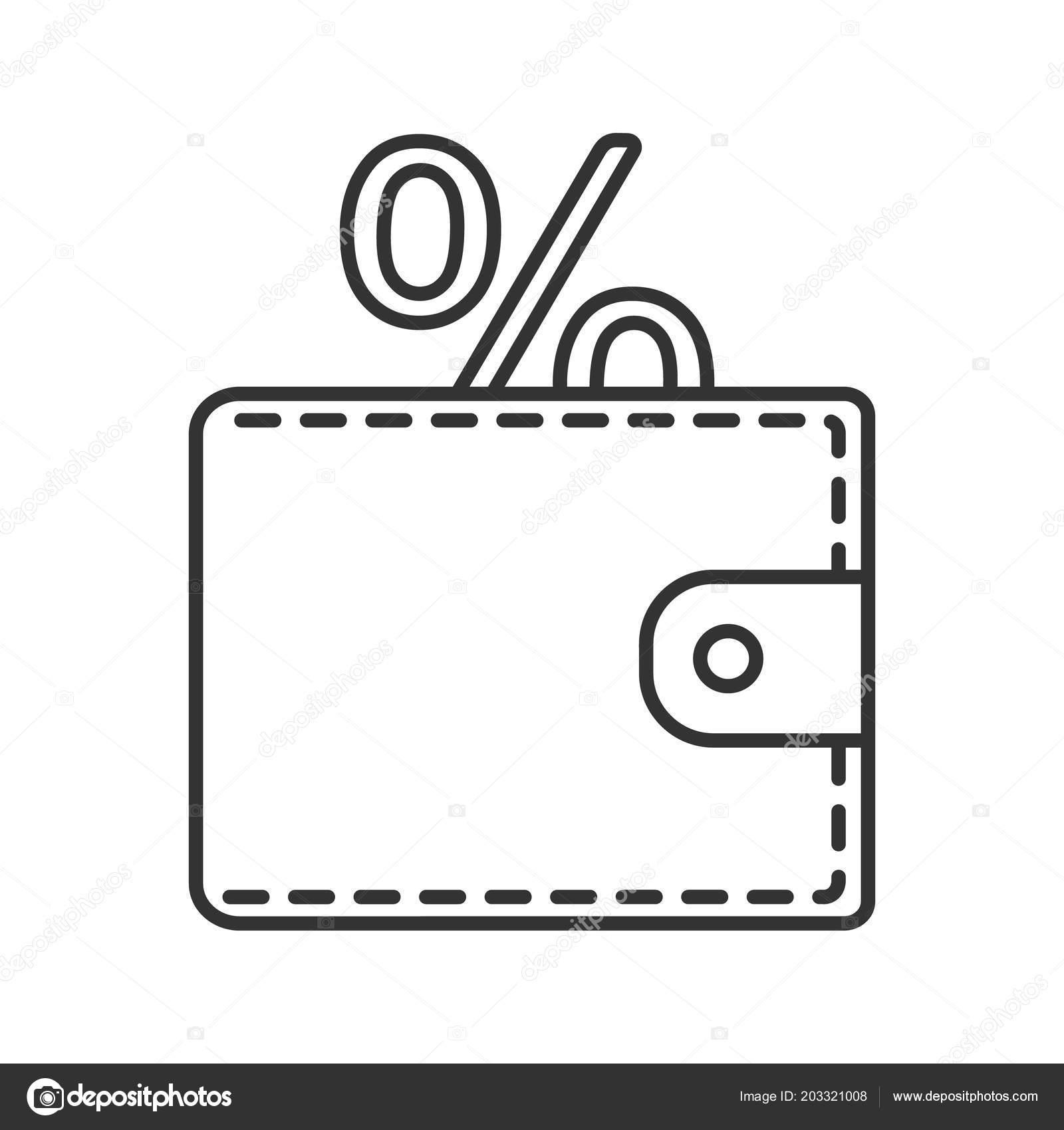 Dessin Porte Monnaie icône linéaire Économiser argent illustration ligne mince porte