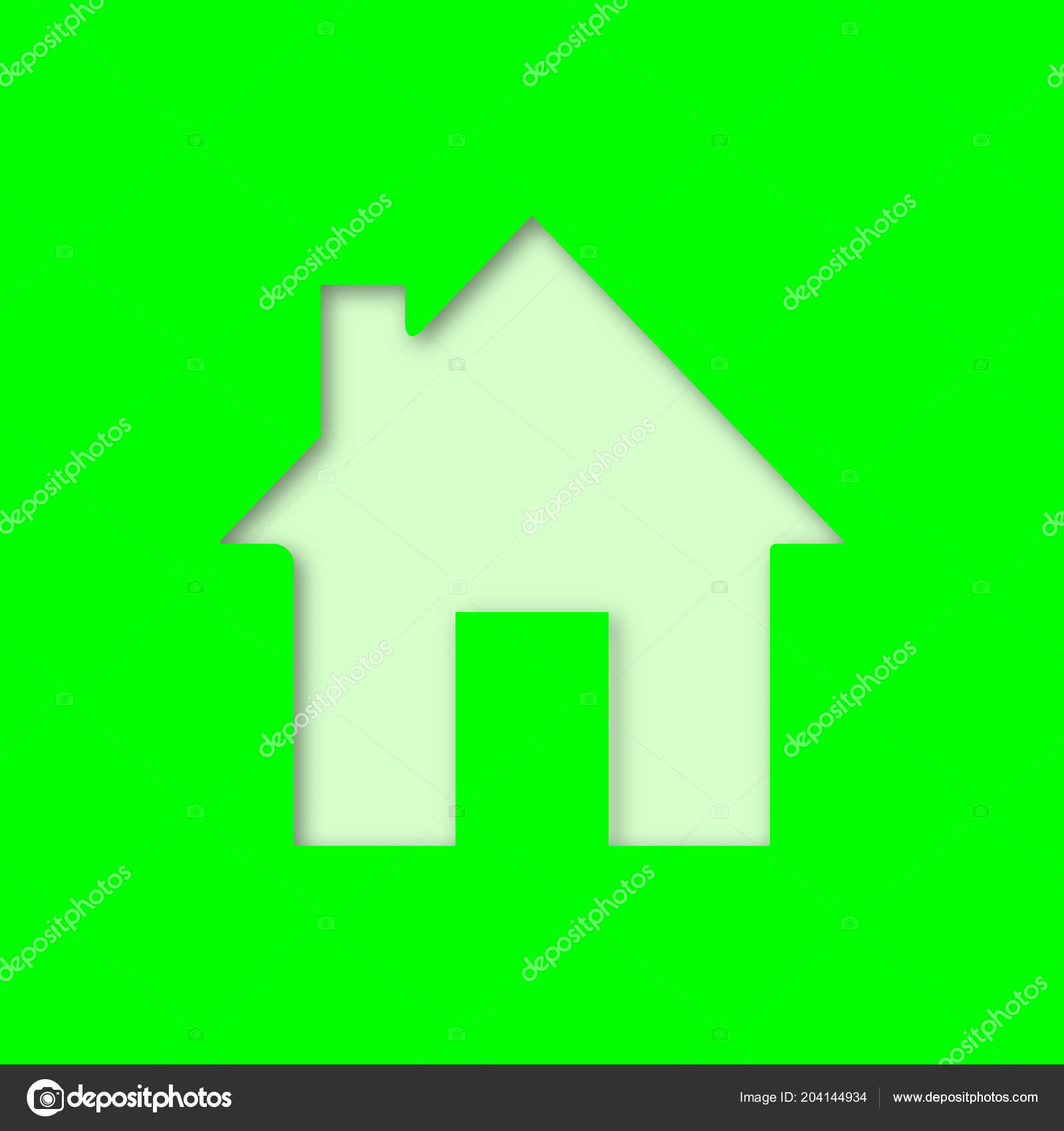 homepage paper cut out icon house home building vector silhouette