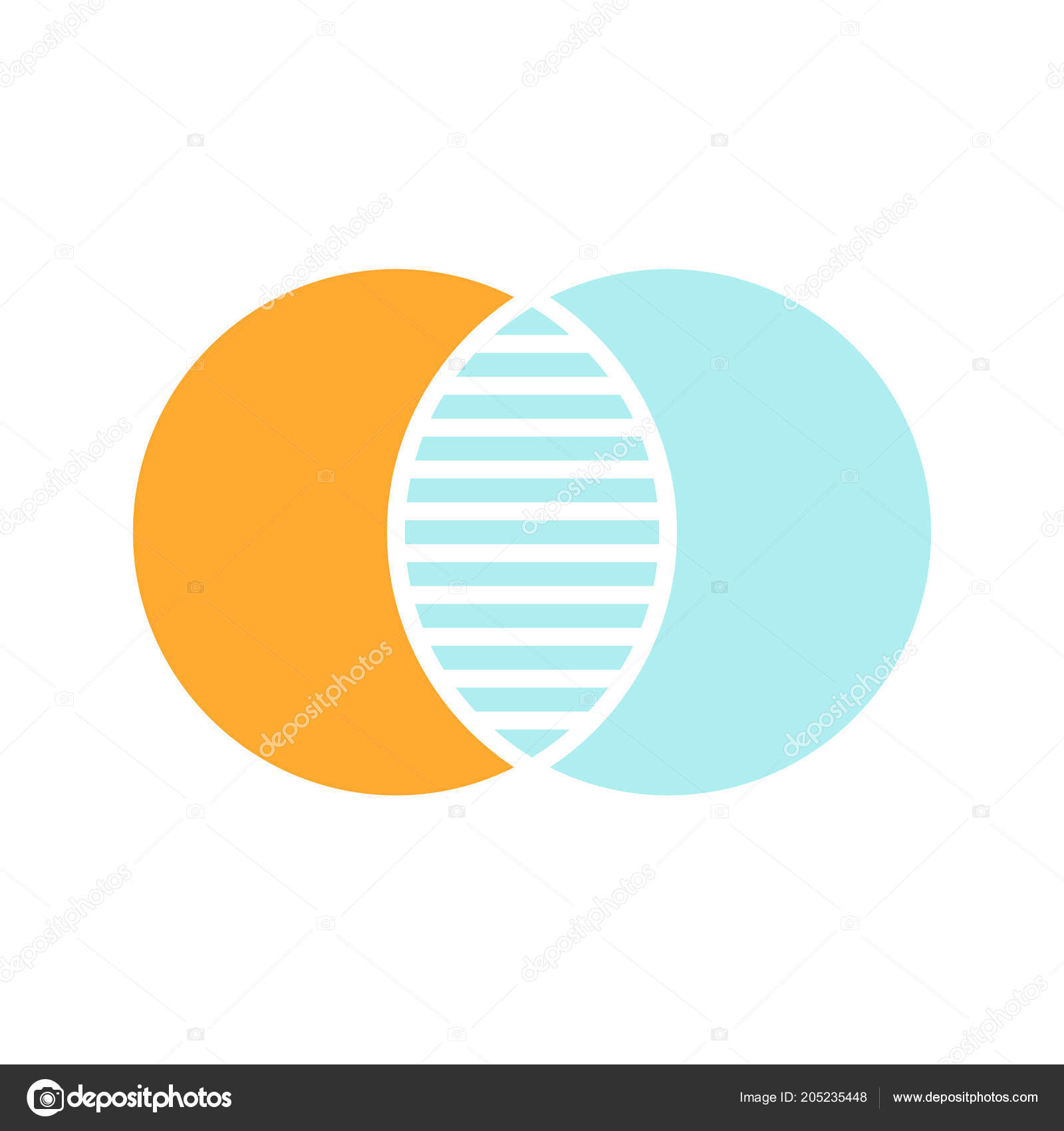 Discrete maths glyph color icon overlapping circles intersection overlapping circles intersection venn diagram silhouette symbol on white background with no outline negative space vector illustration vector by bsd ccuart Choice Image