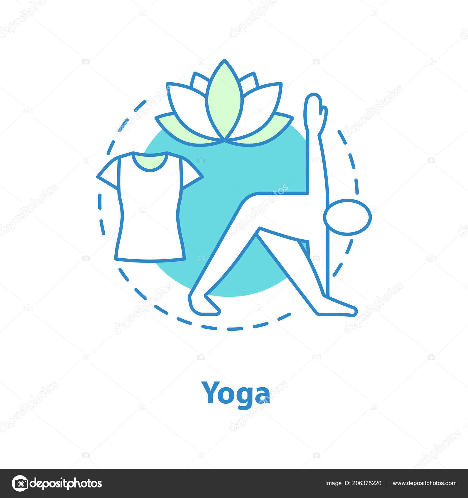 Yoga Concept Icon Gymnastics Idea Thin Line Illustration Sports Training Stock Vector